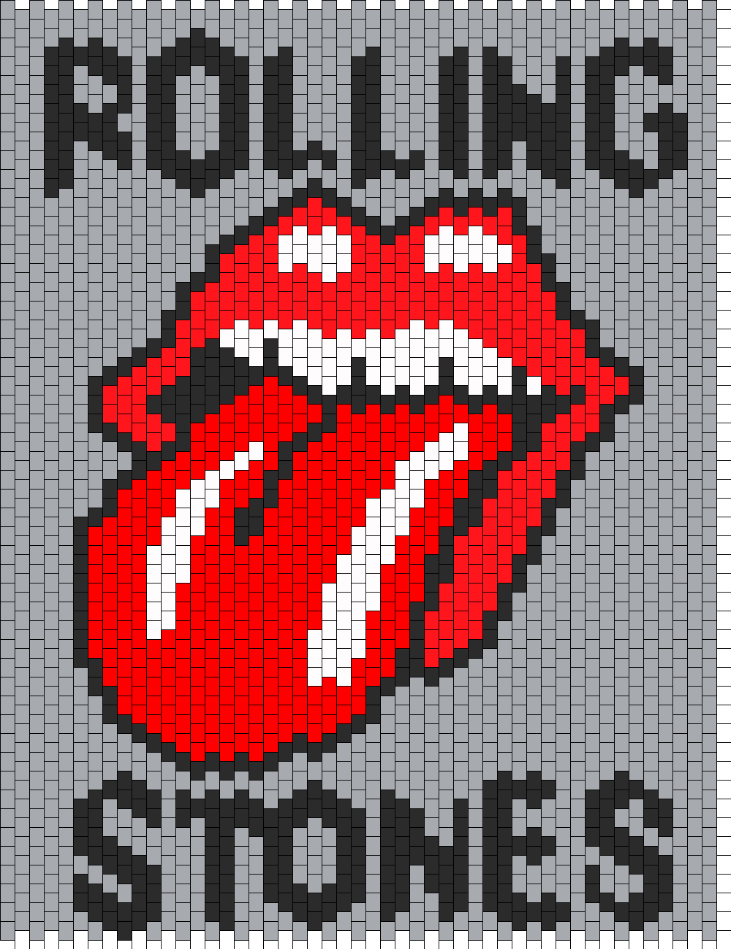 Rolling Stones Bead Pattern | Peyote Bead Patterns | Misc Bead ...