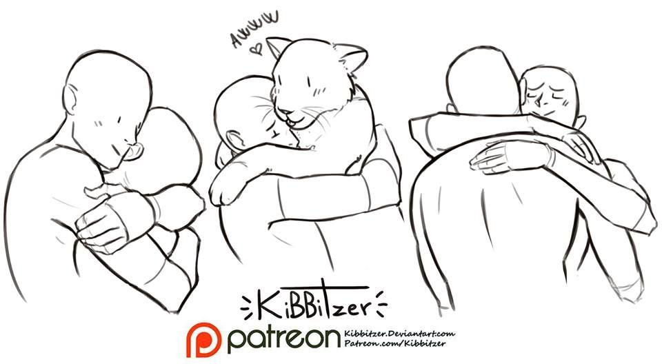 pose reference couple hug lion | poses and references - couples