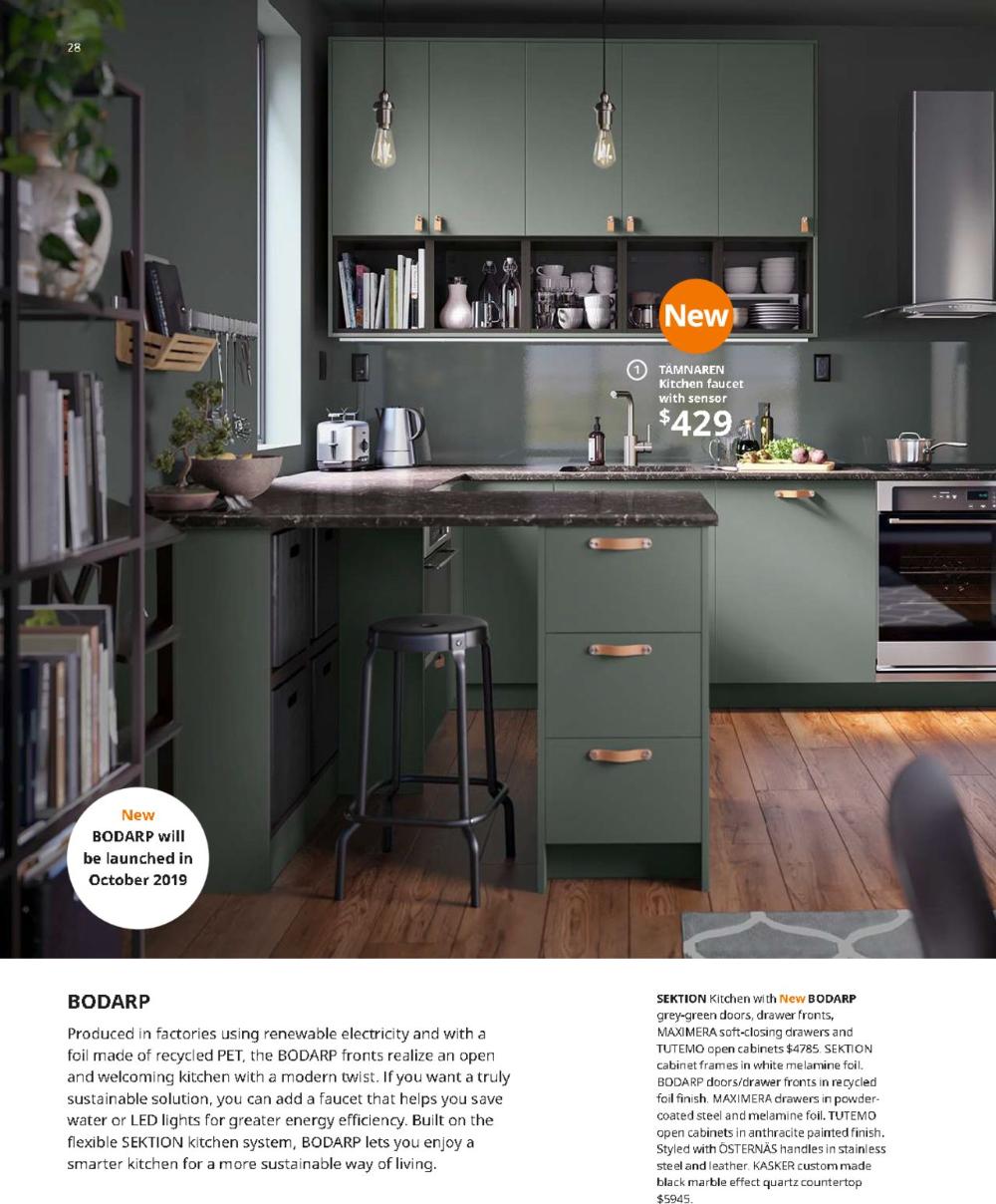 Bodbyn Door Dark Green Ikea In 2020 Green Kitchen Cabinets Dark Green Kitchen Minimalist Kitchen