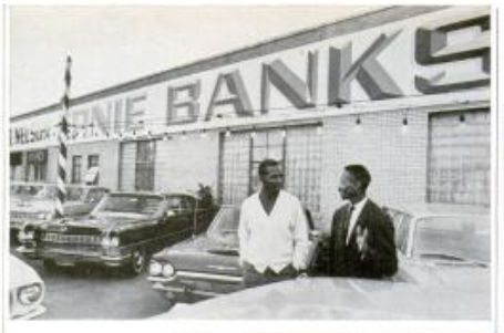 Ernie Banks And His Business Partner Robert Nelson Jr At Their