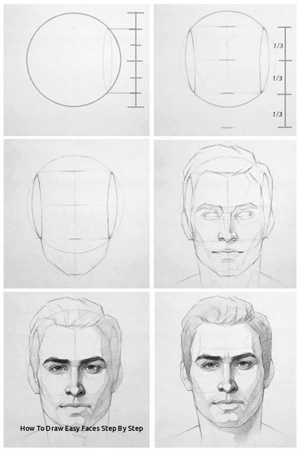 How To Draw Easy Faces Step By Step Face Drawing Reference Drawing Step Drawings 1 Face Drawing Reference Male Face Drawing Drawing People