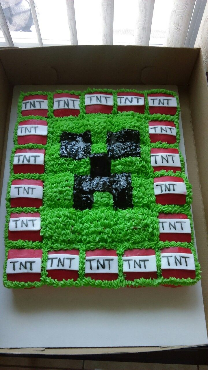 Mine Craft Pull Apart Cupcake By Vivian Lopez With Images
