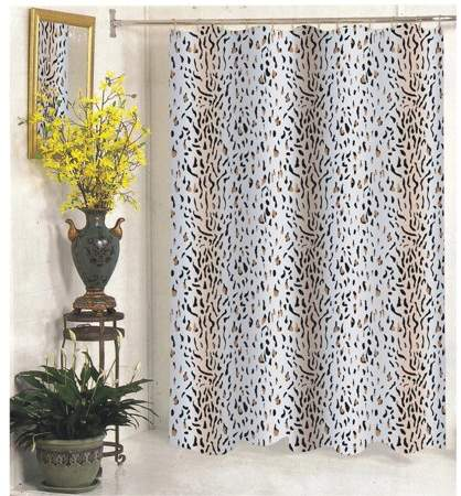 Carnation Home Fashions Extra Wide Hailey Fabric Shower Curtain