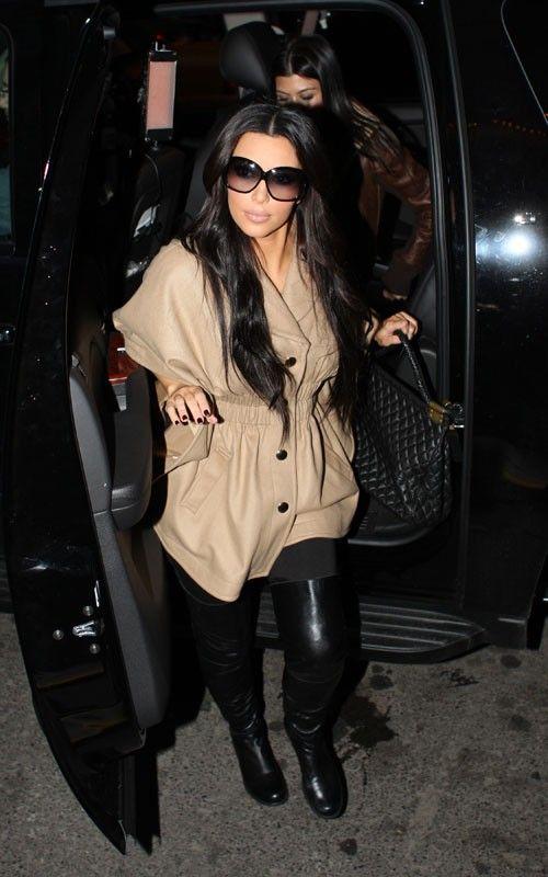 Kim Kardashian wearing Stuart Weitzman
