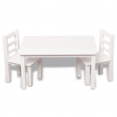 Strange Table And Two Chairs Maplelea Girls Doll Furniture Machost Co Dining Chair Design Ideas Machostcouk