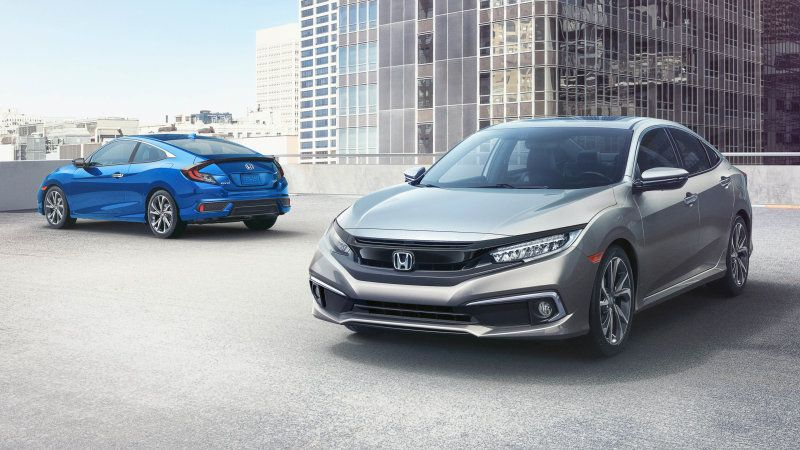 2019 Honda Civic sedan, coupe add Sport trim, safety