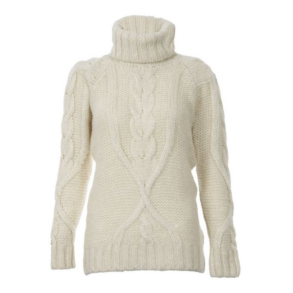 Womens Off-white Super Slouch Cable Roll Neck Jumper (140 CAD ...