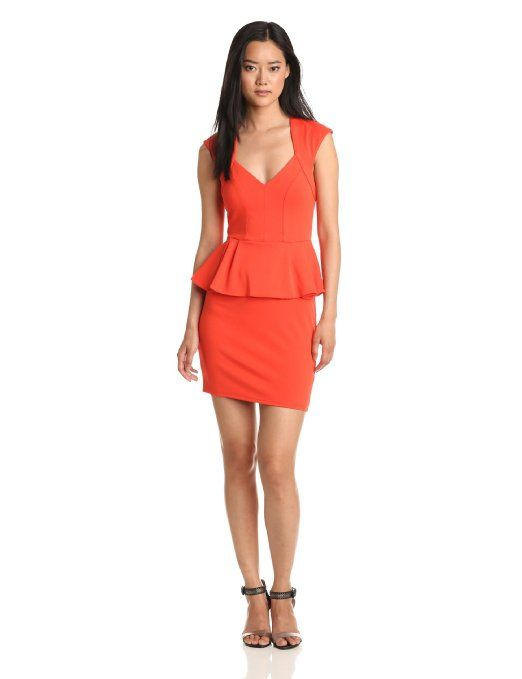 Amazon.com: Bardot Women's Victoria Peplum Dress: Clothing
