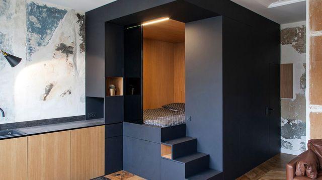 Appartement Paris 10 32 m2 avec un cube multifonction