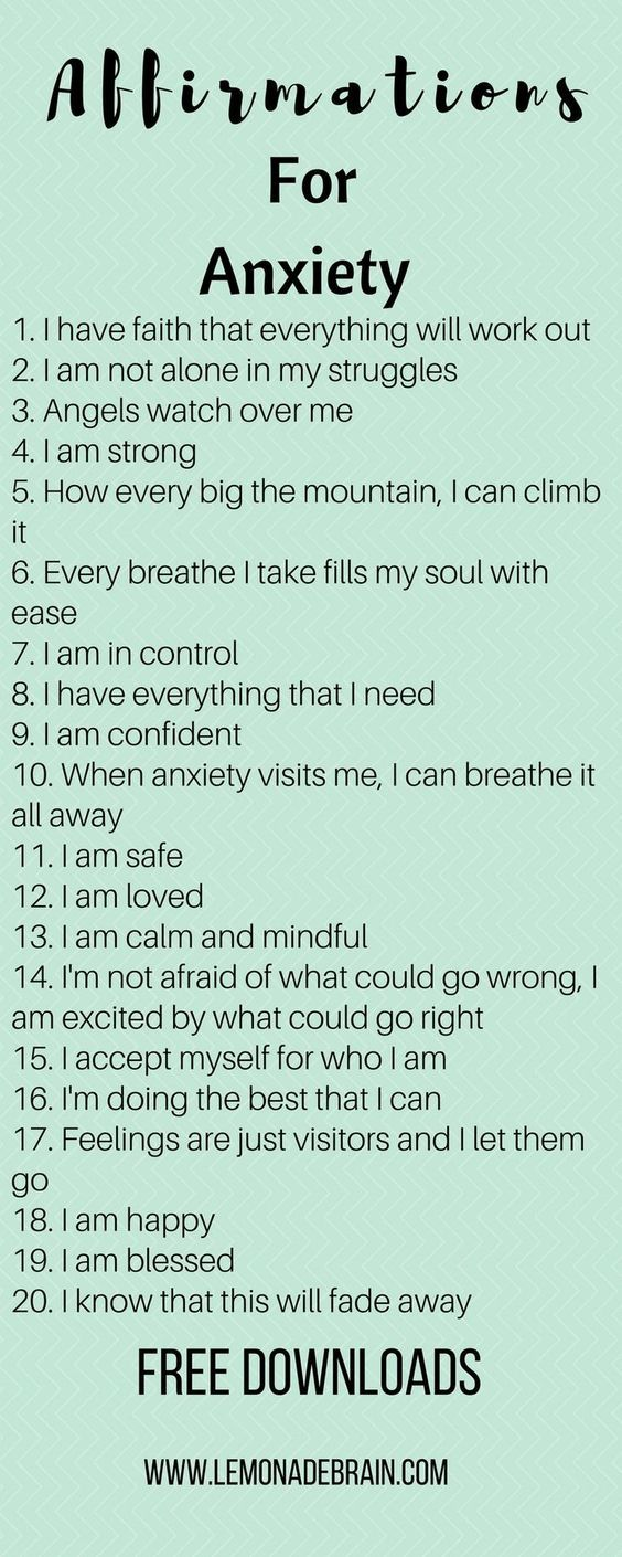 Anxiety Affirmations