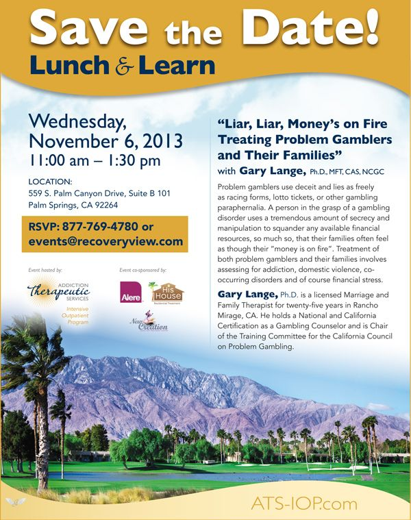 Nov 6 Lunch and Learn RecoveryViewcom Events Pinterest