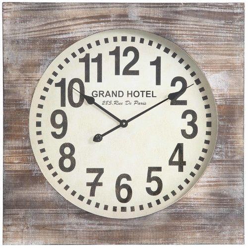 Cooper Classics Oversized 27 Augusta Wall Clock Oversized Wall Clock Wood Wall Clock Wall Clock