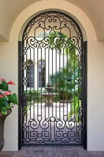 Courtyard - Wrought Iron Doors Windows Gates \u0026 Railings from Cantera Doors & Francia-74 - Wrought Iron Doors Windows Gates \u0026 Railings from ... Pezcame.Com