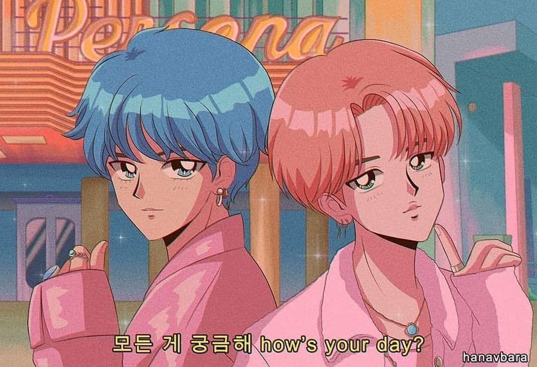 kpop 80s anime