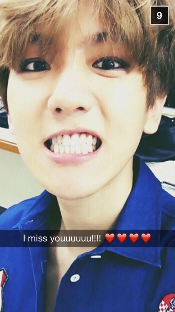 Exo Baekhyun Snap Baekhyun Kpop Snapchat Exo
