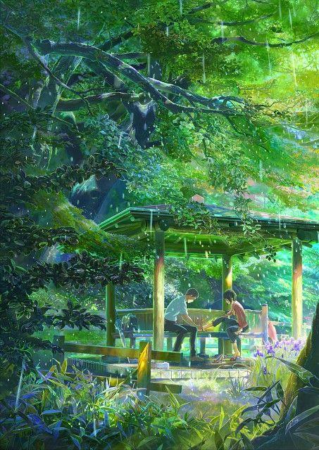 Kotonoha No Niwa Kotonoha No Niwa Eiga Posuta 01 Jardim De Palavras Filmes De Anime Anime
