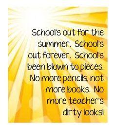 school's out - alice cooper | Lyrics | Music Quotes, Music ...