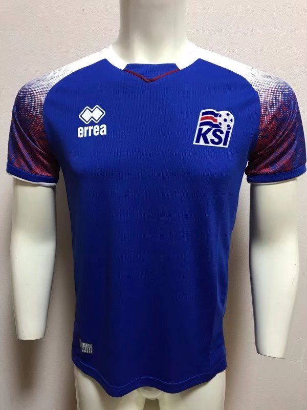 brand new 0f240 8d69a Iceland 2018 World Cup Home Jersey | 2018 Iceland World Cup ...