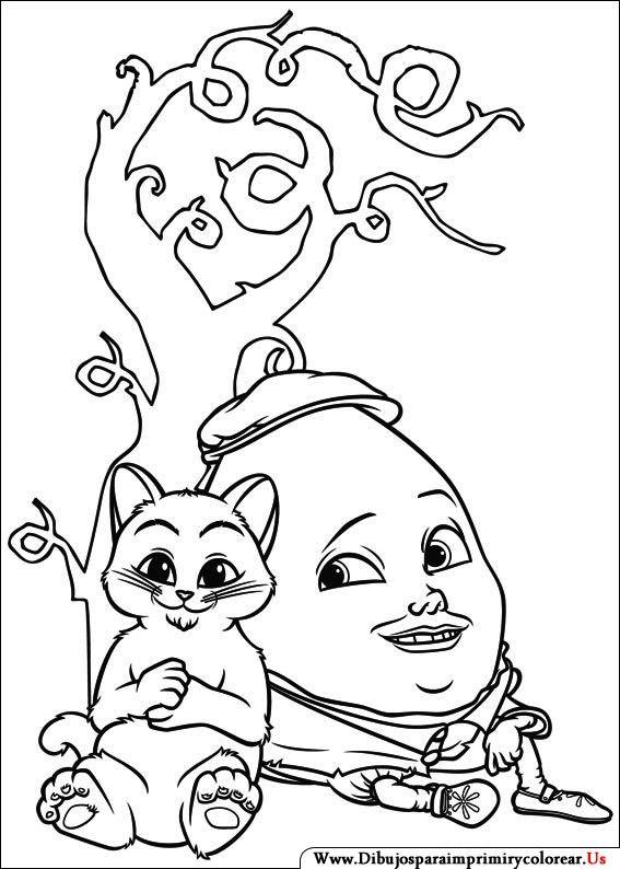 Dibujos de El Gato con botas para Imprimir y Colorear | de gelaarsde ...