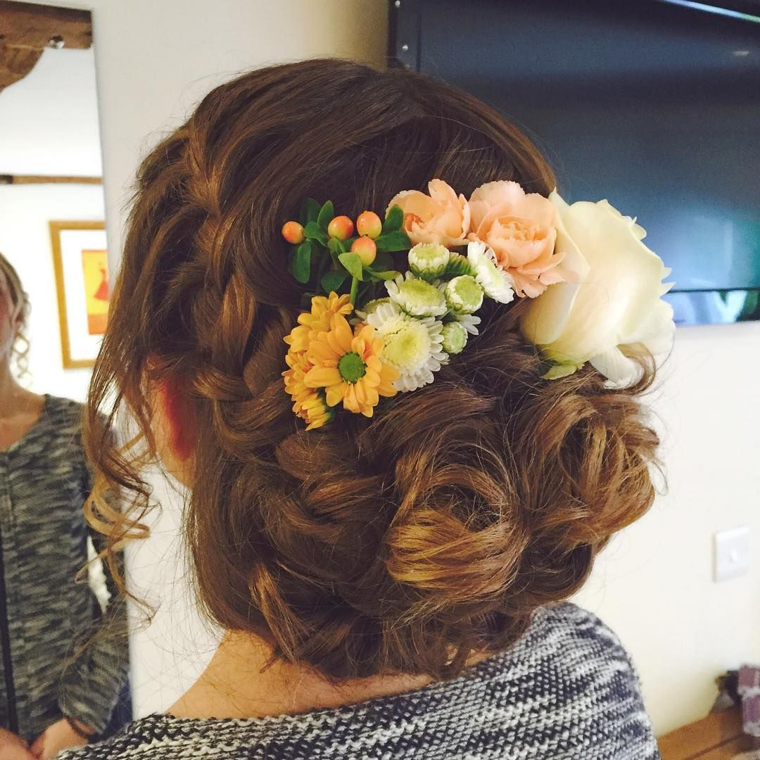 Boho hair wedding hair bridal hair wedding hair flowers red hair