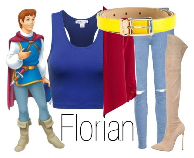 Florian~ DisneyBound by basic-disney on Polyvore featuring polyvore fashion style MANGO Glamorous Casadei Dolce&Gabbana clothing