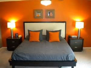 gray and orange bedroom ideas - I love how simple it is in ...