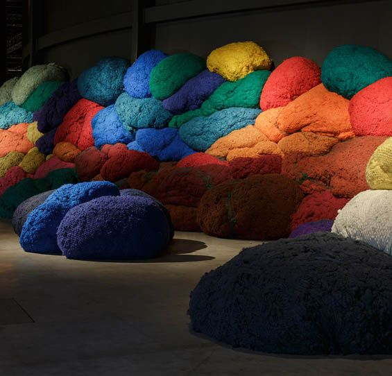 Sheila Hicks' Larger-Than-Life Tufts Of Fibers Create Wonderfully Tactile Installation