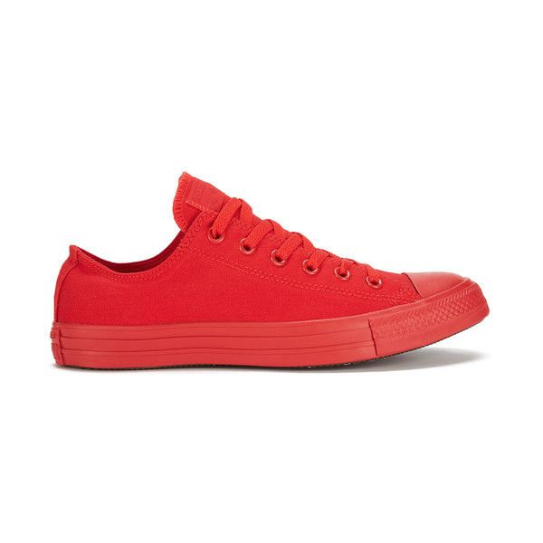 Converse Men's Chuck Taylor All Star Monochrome OX Trainers - Casino ($33)  ❤ liked