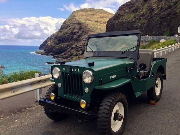 "Craigslist Hawaii Oahu Cars: 54 Willys CJ3B ... ""As The 1950's Got Under Way, Jeep"