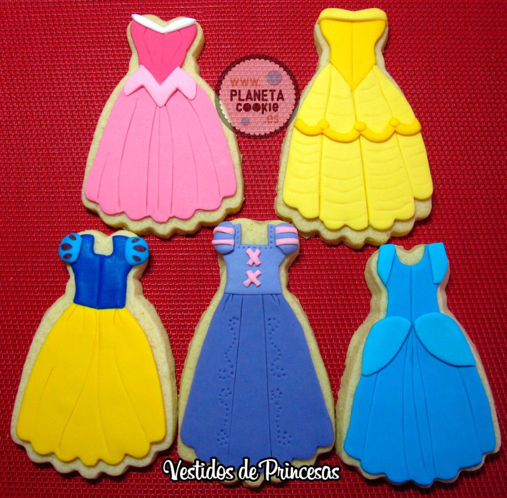 Vestidos Princesas Galletas Galletas Princesa Disney