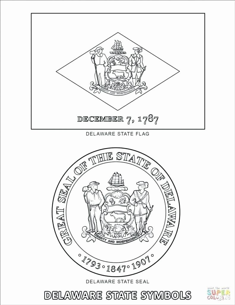 Delaware State Flag Coloring Page Luxury Delaware State Seal