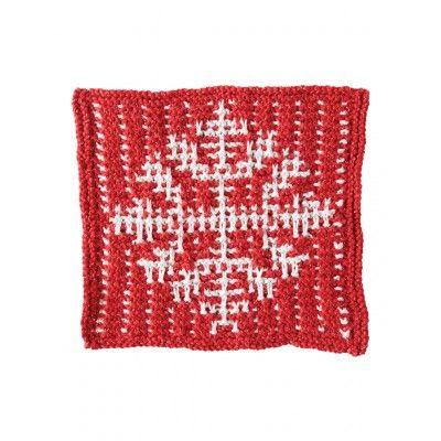 Mosaic Snowflake Dishcloth Free Knitting Pattern. You won't mind ...