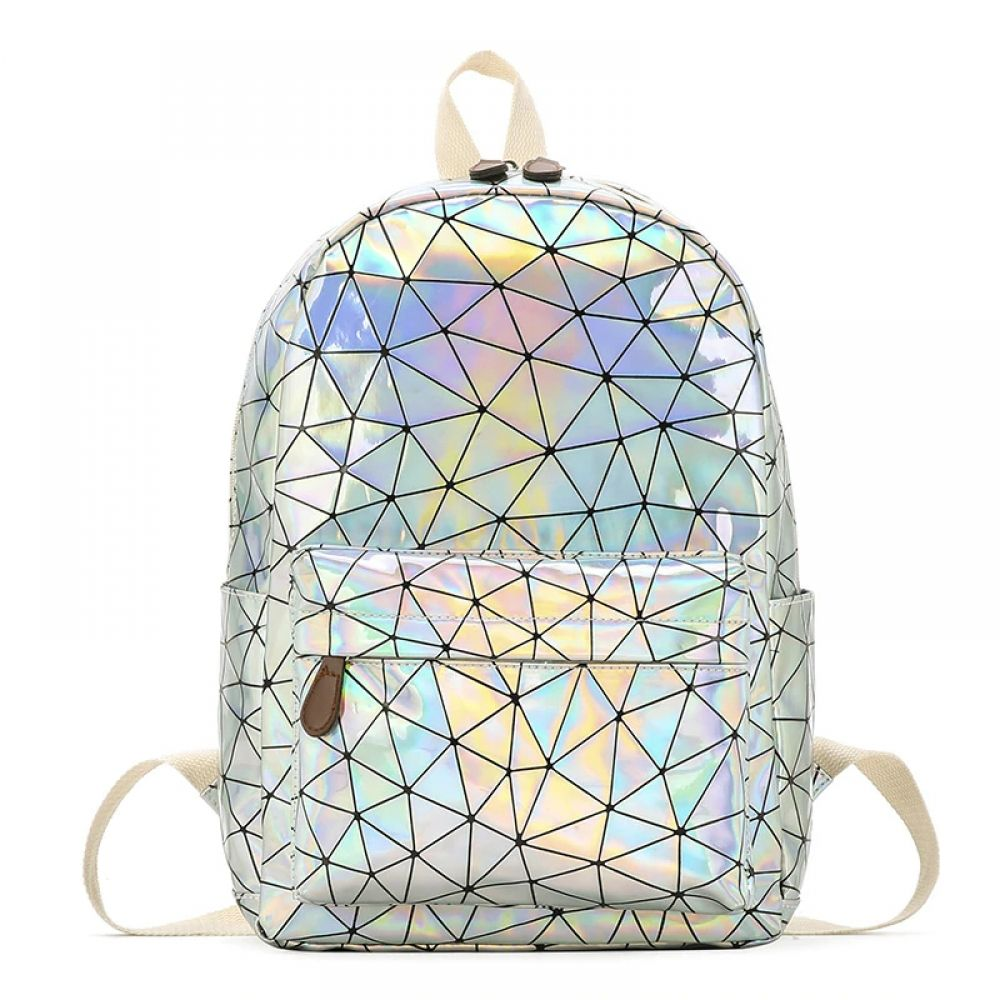 Backpacks Fashion Women Small Hologram Pu Leather Backpacks Mini Holographic Laser Daypacks For Teenager Girls Ladies Shopping Mochila
