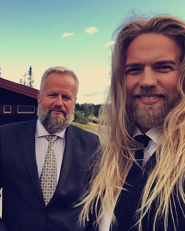 Lasse Matberg Instagram.  The legend himself @arneanfield and me. The greatest guy I know! I owe everything to the man who made and shaped me into the guy I am today. I hope that I one day can be like him. This one is for all the dads out there. Love you dad! ❤️ PS yep I also got my height from him #suitup #wedding #fatherandson #beardedbrothers #loveyoudad