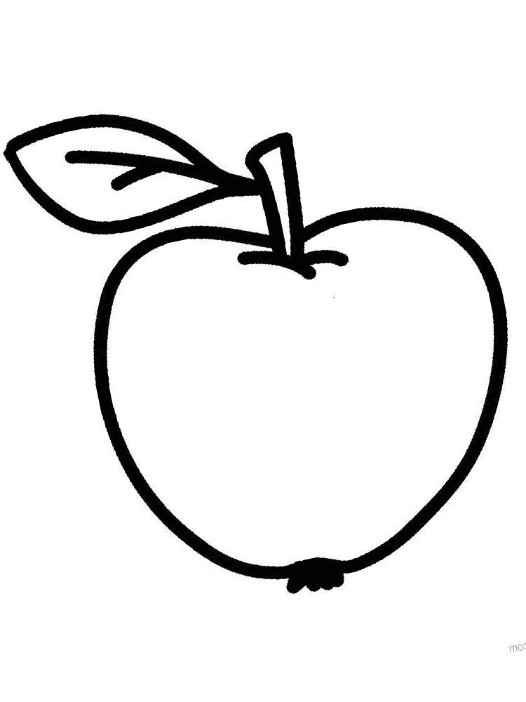 Dibujos animados para colorear - verduras y frutas, para niños ...