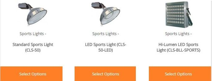 Our Sports Lighting Fixtures Are Available In Two Types Standard Metal Halide And The New Led Style These Are Ideal For Spo Led Lights Led Light Fixtures Led