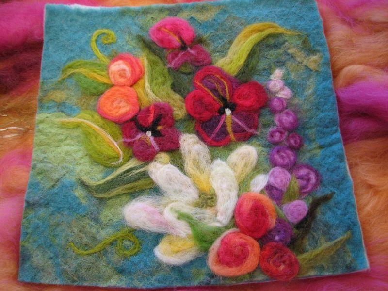 wool needle felting patterns | Needle felted garden | keçe ...