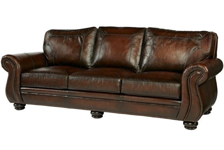 Bernhardt Breckenridge Leather Sofa Bn 6957lo