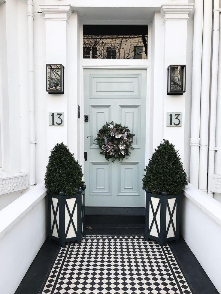Pale Blue Door Entrance #home #decor