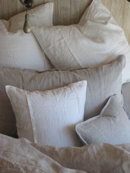 Louwie Organic Pillow Sham Linen Pillows Linen Bedding Bed