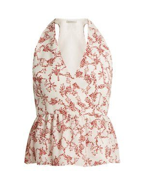 Buy Cheap Low Shipping Lucie floral-print halterneck crepe top Emilia Wickstead Sale New Arrival Discount Fast Delivery Shop For Sale Online 0mk8PbLg