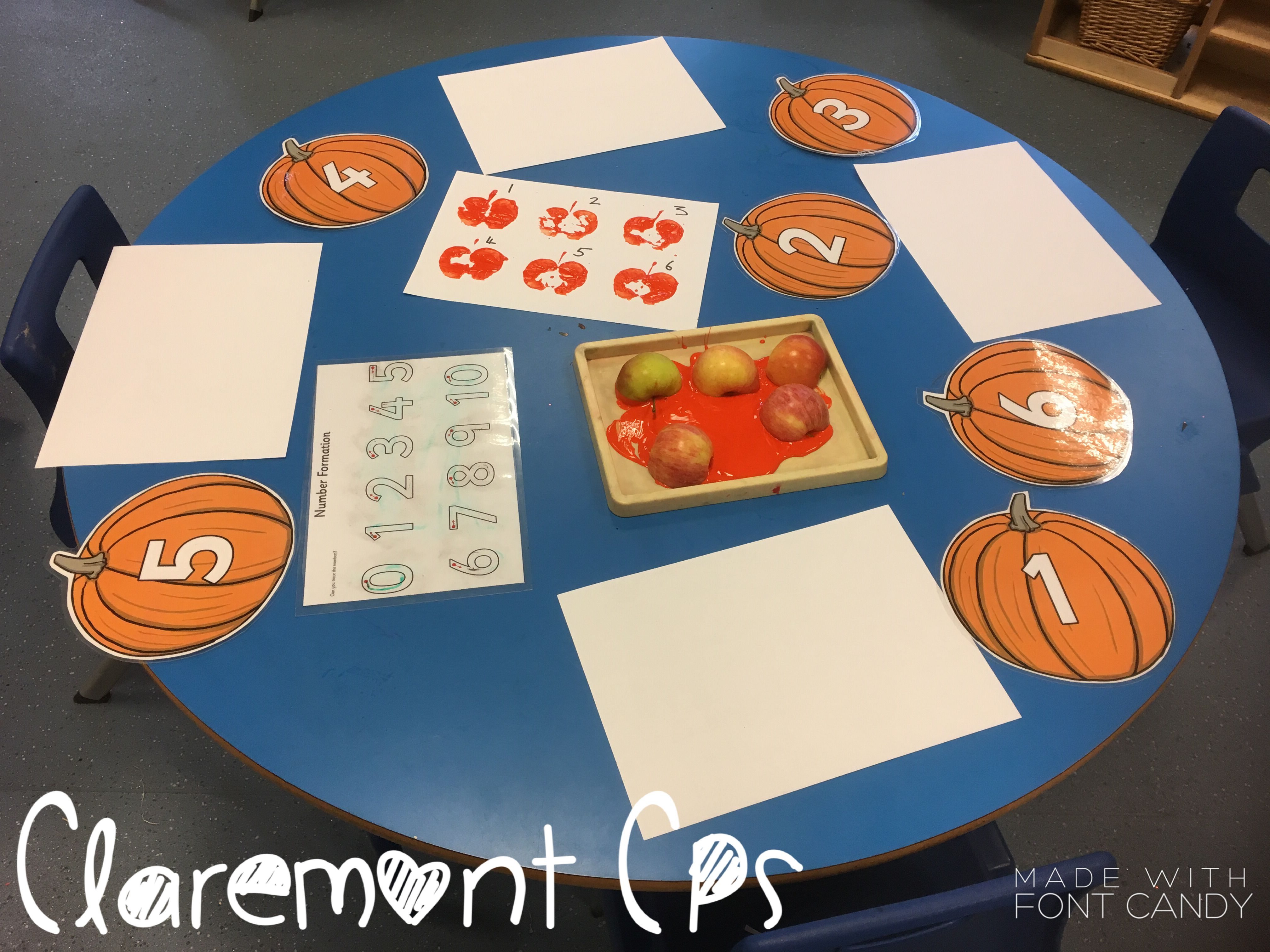 Pumpkin Printing Number Recognition And Counting