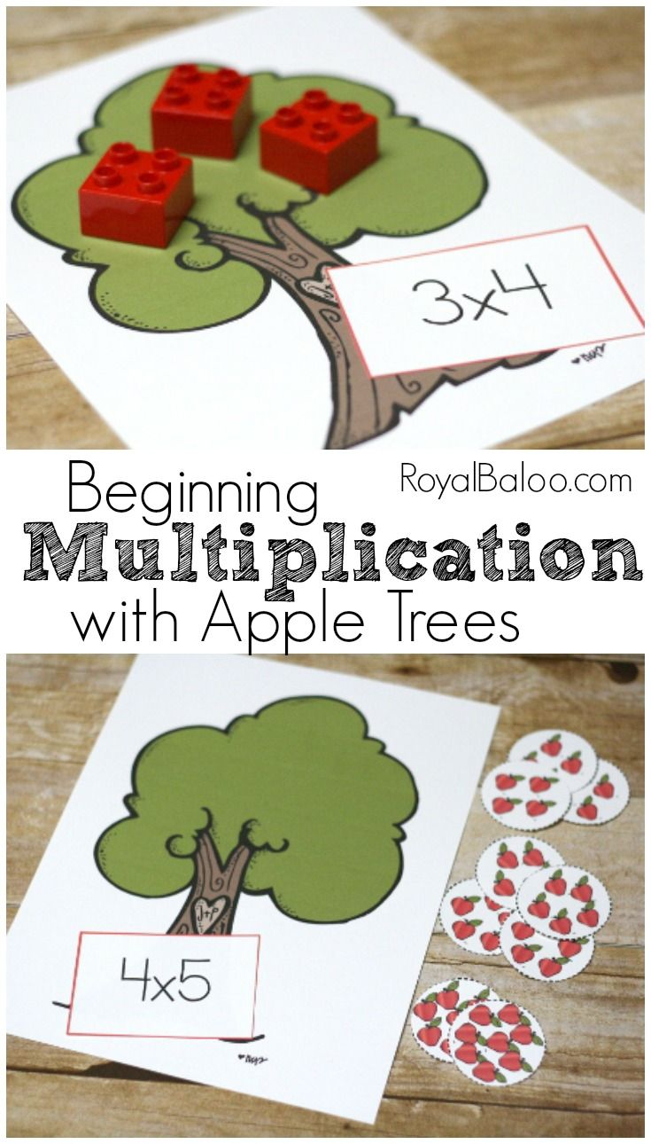 Learn Multiplication with an apple theme! Beginning Multiplication ...