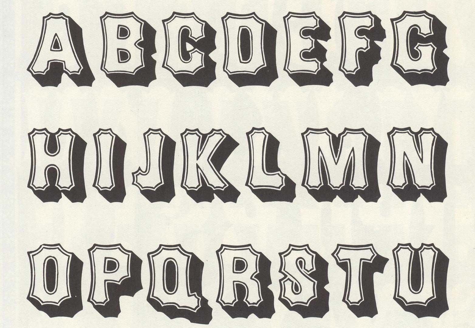80 Free Wood Type Alphabets With Images