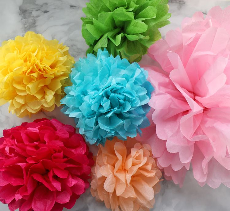 The ultimate guide to making tissue paper flowers the photo and the ultimate guide to making tissue paper flowers the photo and video tutorial make it so easy plus sizing charts hanging tips and lots of different mightylinksfo