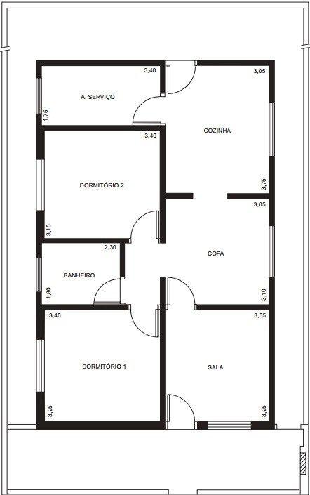 Foyer Planta Baixa : Para projeto de instalação elétrica residencial é