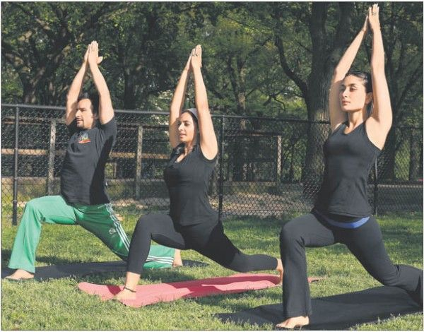 Kareena Yoga Vegetarian Lifestyle Success Yoga Guru Celebrity Workout International Yoga Day
