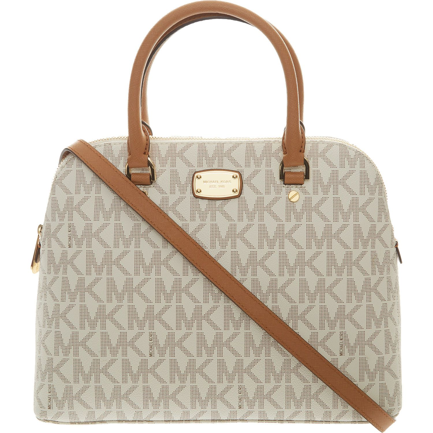 Michael Kors Bag for under £100!! Vanilla   Gold Tone Leather Cindy Satchel  - Handbags - Accessories - Women 8e035af183