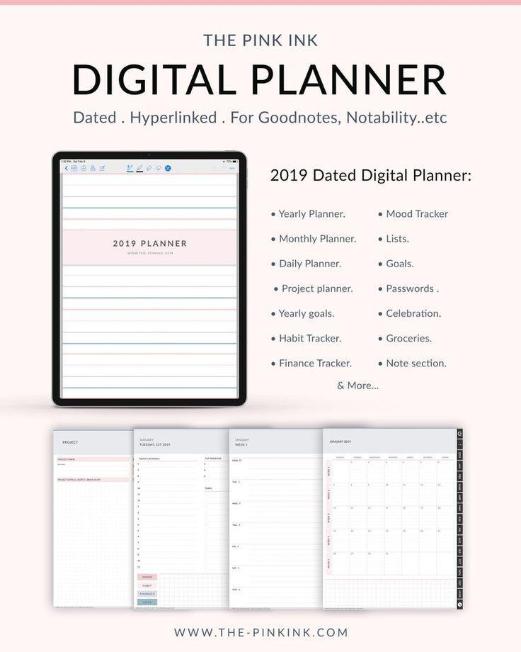 Digital Planner Goodnotes, Ipad planner goodnotes planner