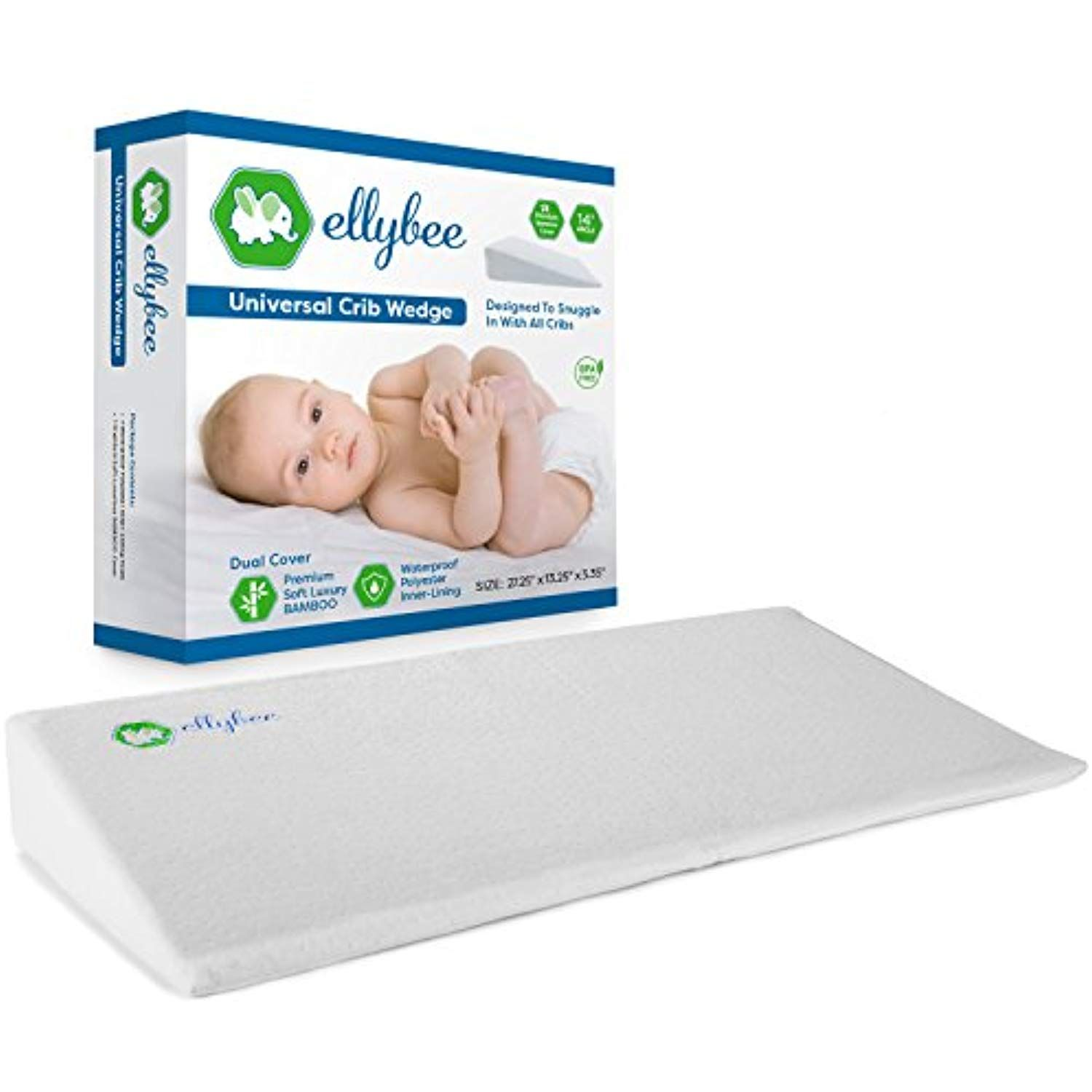 Baby Schlafkissen Ellybee Universal Crib Wedge Pillow For Baby Crib Mattress Acid